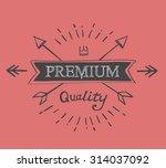 hand lettered catchword premium ... | Shutterstock .eps vector #314037092