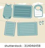 baby shower invitation  | Shutterstock .eps vector #314046458