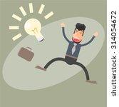 the business man has just got a ... | Shutterstock .eps vector #314054672