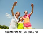 mother and two daughter fun | Shutterstock . vector #31406770