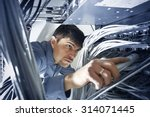 Technician Is Checking Server\'...