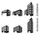 building icons vector... | Shutterstock .eps vector #314080646