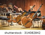 cello music instruments on a... | Shutterstock . vector #314082842