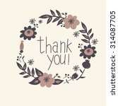 floral thank you card vector... | Shutterstock .eps vector #314087705