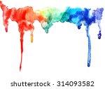 Abstract Watercolor Rainbow...