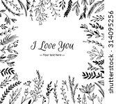 hand drawn vector vintage... | Shutterstock .eps vector #314095256