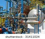 factory installation in the... | Shutterstock . vector #31411024
