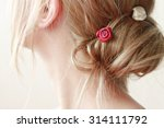 delicate woman no face blond...   Shutterstock . vector #314111792
