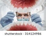 stomatology. dentist over open... | Shutterstock . vector #314124986
