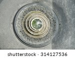 Fountain Water On Top View