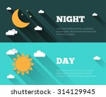 sun  moon and stars  clouds... | Shutterstock .eps vector #314129945