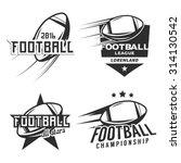 set of american football league ... | Shutterstock .eps vector #314130542