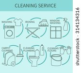 line icon of cleaning service ... | Shutterstock .eps vector #314134316