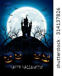 halloween night background with ... | Shutterstock .eps vector #314137826