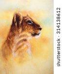 little lion cub head. animal... | Shutterstock . vector #314138612