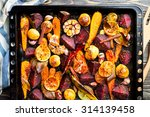 roasted vegetables  closeup view | Shutterstock . vector #314139458