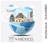 mexico landmark global travel... | Shutterstock .eps vector #314144885