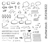 hand drawn design elements... | Shutterstock .eps vector #314146322