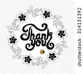word thank you. vector... | Shutterstock .eps vector #314151392