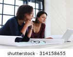 office  lifestyle. women at work | Shutterstock . vector #314158655