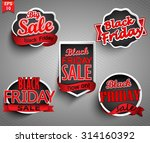 black friday sale labels set.... | Shutterstock .eps vector #314160392