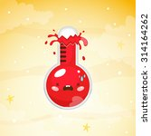 cute thermometer  very hot... | Shutterstock .eps vector #314164262