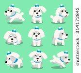 Cartoon Character Maltese Dog...