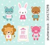 Stock vector vector baby animals 314173298