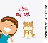 pet shop design  vector... | Shutterstock .eps vector #314174405