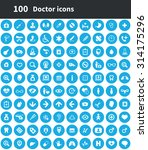 doctor 100 icons universal set... | Shutterstock . vector #314175296