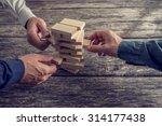 three businessmen hands playing ... | Shutterstock . vector #314177438