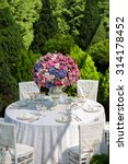 table setting at a luxury... | Shutterstock . vector #314178452