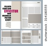 modern magazine layout template  | Shutterstock .eps vector #314180555