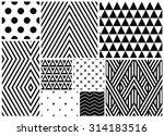 monochrome seamless patterns... | Shutterstock .eps vector #314183516