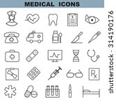 medical icons set  | Shutterstock .eps vector #314190176