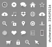 set of web icons on a grey... | Shutterstock .eps vector #314193116