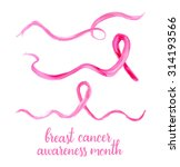 symbols of breast cancer... | Shutterstock .eps vector #314193566