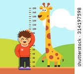 boy kid is measuring his height ...   Shutterstock .eps vector #314197598
