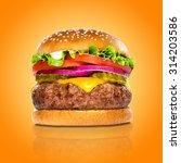 perfect hamburger classic... | Shutterstock . vector #314203586