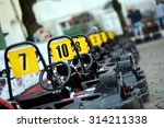 row of carts with approval... | Shutterstock . vector #314211338