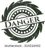 danger rubber grunge seal