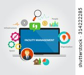 facility management facilities... | Shutterstock .eps vector #314222285