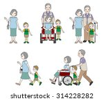 grandmother and family | Shutterstock .eps vector #314228282