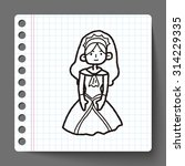 princess doodle | Shutterstock .eps vector #314229335