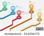 vector abstract 3d infographic... | Shutterstock .eps vector #314236172