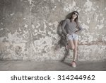 young beautiful girl in... | Shutterstock . vector #314244962