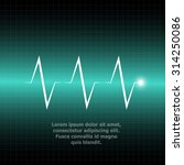 abstract heart beats cardiogram ... | Shutterstock .eps vector #314250086