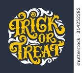 vector set of happy halloween... | Shutterstock .eps vector #314252282
