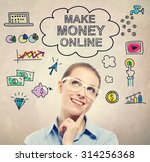 make money online idea sketch... | Shutterstock . vector #314256368