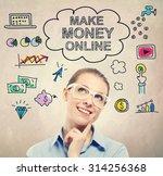 make money online idea sketch... | Shutterstock . vector #314256368